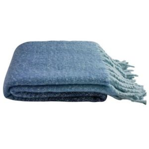 Mer sea blue ombré cozy blanket
